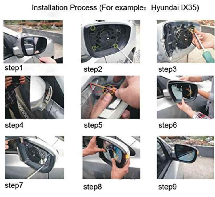 Espelho retrovisor do carro indicador de volta luz sinal para renault sandero opel astra renault kadjar ssangyong kyron para honda accord