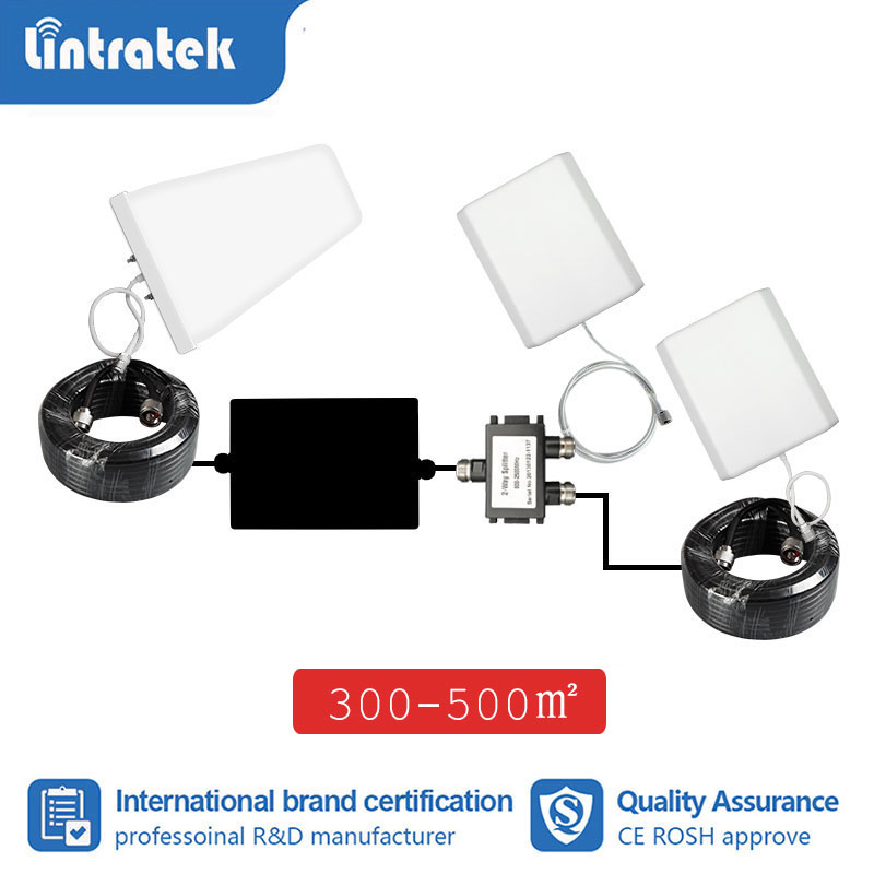 Lintratek Antenna Full Set LPDA Outdoor Pannel Indoor Antenna Expand Coverage For Signal Booster Repeater 2g 3g 4g 10m Cable S8