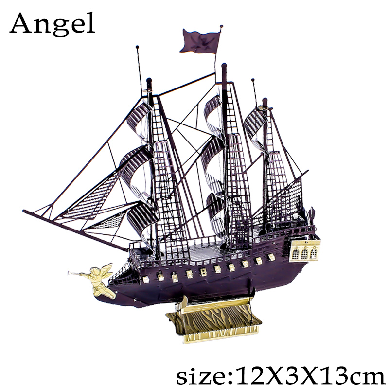 3D Metal Model Puzzles DIY Puzzle Jigsaw Kit For Adults Children Educational Collection Toys Angel