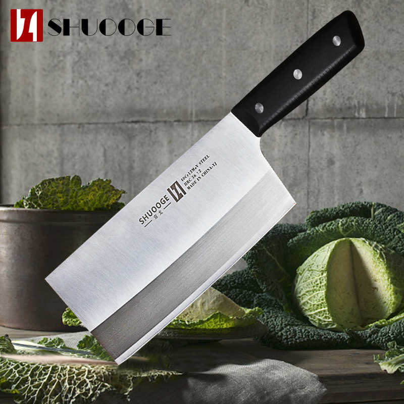 SHUOOGE 40CR13MoV Stainless Steel Kitchen Chef Knife Sharp Japanese Kitchen Knives Meat Fruit Vegetable Cleaver Cooking Tools