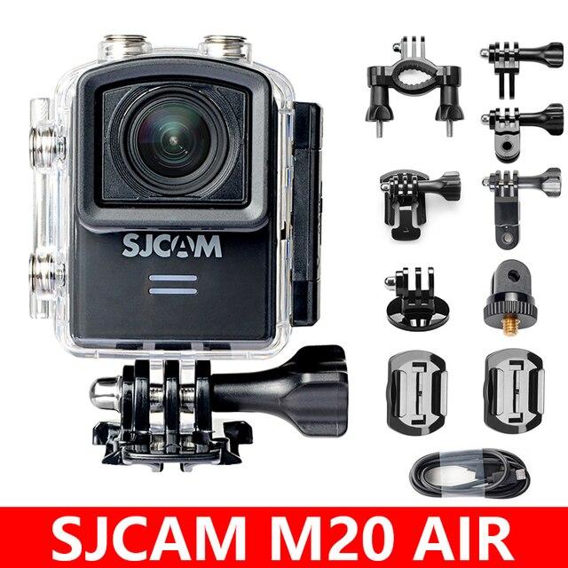 Sjcam câmera de ação original m20 air, câmera esportiva de 12mp e wifi à prova d água, 1080p, ntk96658, para capacete de 12mp