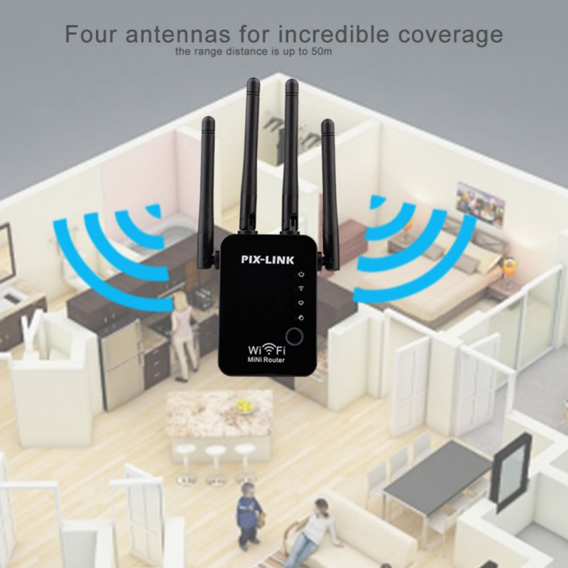 300Mbps Wifi Repeater Wireless Router WLAN Signal Verstärker 2,4G ISP WiFi Range Extender Booster PIX-Link WISP /Router/AP
