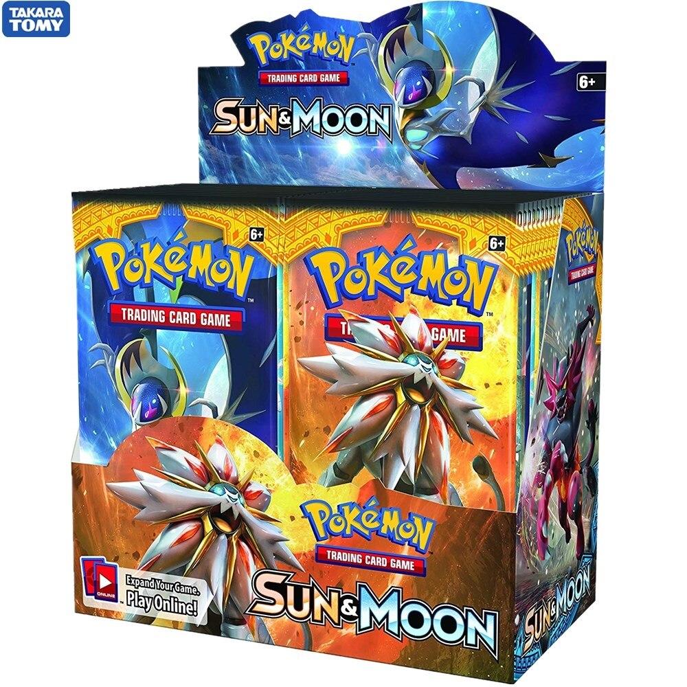 324Pcs/set Pokemon TCG: Sun & Moon Booster Box Trading Card Game Carte Toy
