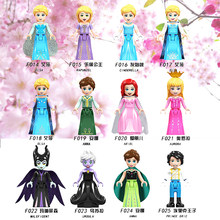 For Legoing Friends Fairy Tale Princess Maleficent Olivia Stephanie Mia Dancet White Snow Doll Elsa Blocks Toys Legoings Friends(China)