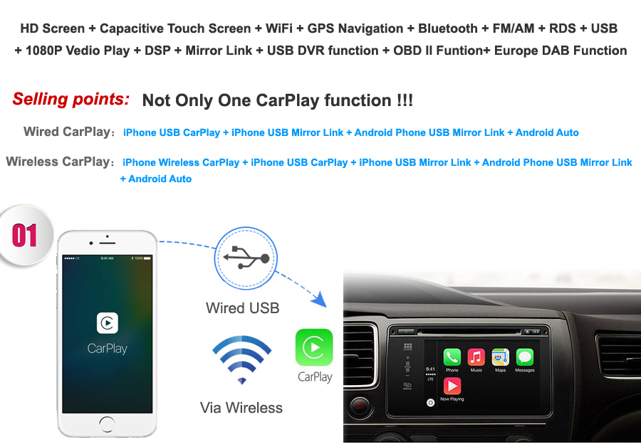 Discount Android 9.0 Octa Core  Car DVD Player Stereo System For Porsche Cayenne With Canbus Wifi GPS Navigation Radio Carplay 1