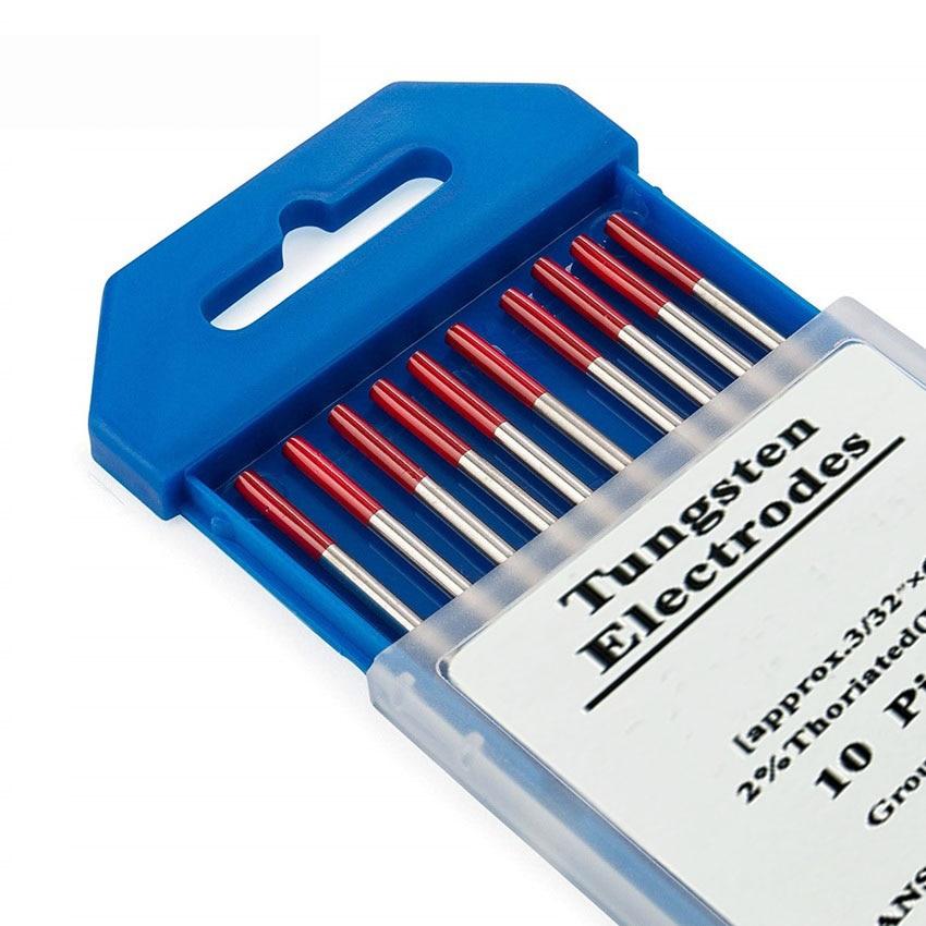 Tungsten Electrodes Welding Electrodes 1.0 1.6 2.0 2.4 3.0 3.2 4.0mm WT20 Red TIG Tig Rods
