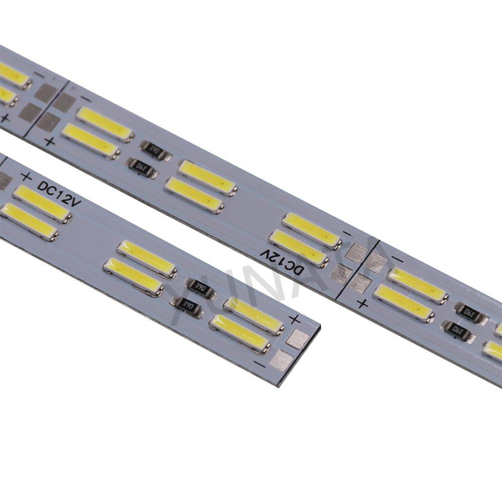 DC 12V Double Row Led Bar Light 25cm 50cm SMD8520 LED Hard Strip Light 120 LEDs/M Cold White LED Aluminium Rigid Strip