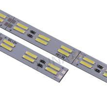 DC 12V Doppia Fila Ha Condotto La Luce Bar 25 centimetri 50 centimetri SMD8520 HA CONDOTTO LA Luce Dura Striscia 120 LEDs/ M Bianco Freddo LED In Alluminio Rigido Striscia