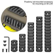 Nouveau m-lok Picatinny Rail tactique 21mm fusil portée montage Rails en aluminium Section adaptateur 5 7 9 11 13 fentes Mlok système de Rail latéral