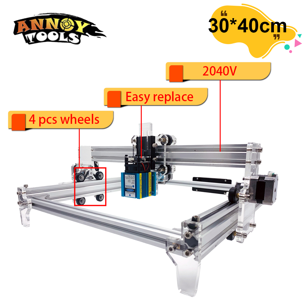 30W CNC Laser Engraving Machine  3500mW 15000mw Laser module 30*40cm CNC Laser Cutter Wood Router  Mini printer