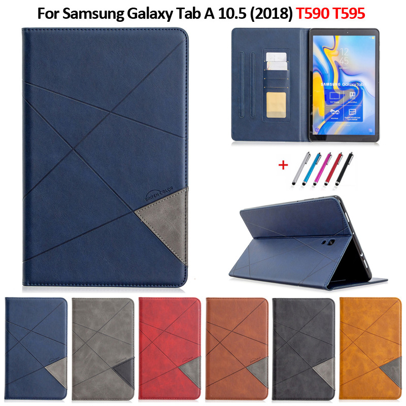Coque For Samsung Tab A A2 10.5 2018 Case Luxury Flip Leather Wallet Stand Tablet For Samsung Galaxy Tab A 10 5 T590 T595 Case