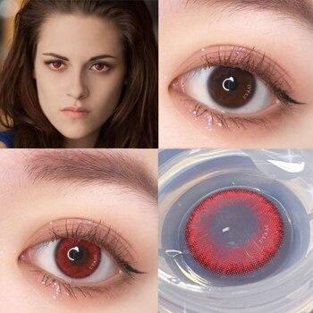 1pair(2pcs) 1 Year Cosplay Sharingan Contact Lenses for Eyes Colored Red Uchiha Sasuke Hatake Kakashi Anime Accessories - 8