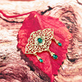 Sunspicems 2021 Мода Золотой Цвет Арабский Брошь для женщин Марокко Caftan булавки цветок свадебные ювелирные изделия Романтический подарок