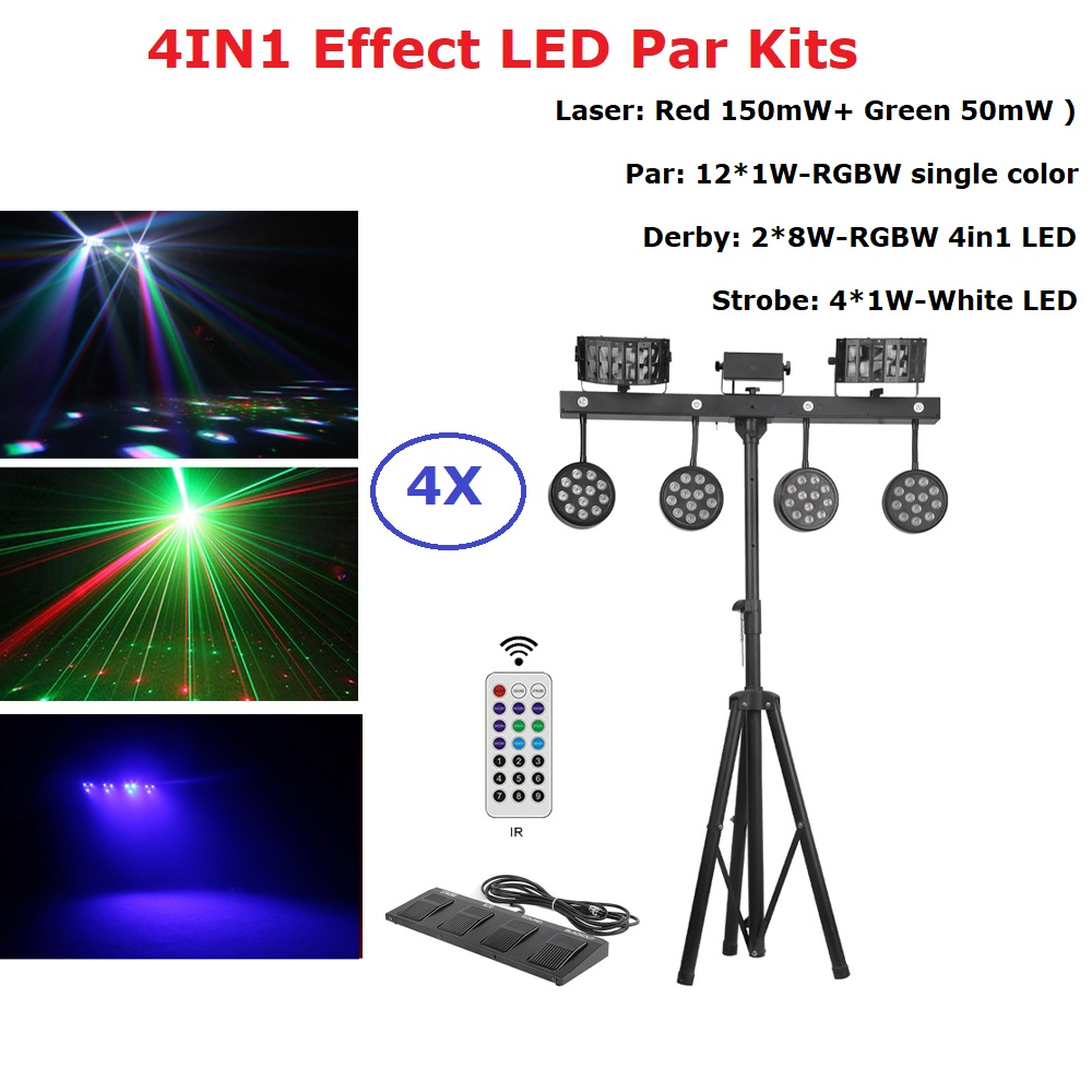 Led Par Kits Derby Strobe Wash Laser