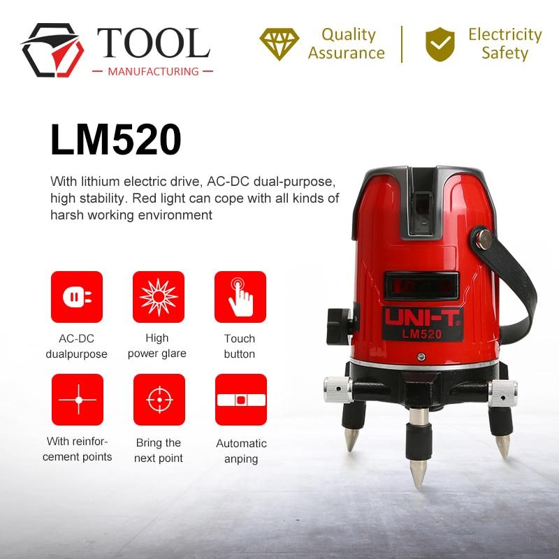 Novo UNI-T lm520 lm530 lm550 laser instrumento de nivelamento 2/3/5 linha cruz marcação instrumento 360 graus auto nivel laser
