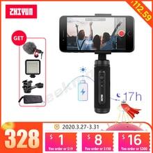 ZhiyunスムーズQ2スマートフォンジンバル3軸ハンドヘルドスタビライザーiphone 11プロアンドロイドvs osmo機動3スムーズ4ミニs