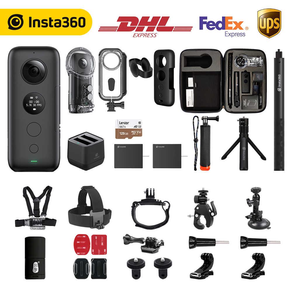 Insta360 1 × アクションカメラ VR 360 パノラマカメラ iphone と android 5.7 4k ビデオ 18MP 写真見えない Selfie スティック