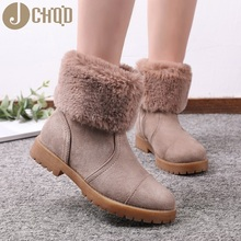 JCHQD 2019 European Style Boots Women High Quality Shoes Women Short plush snowboots with warm interior European sizes 36 42