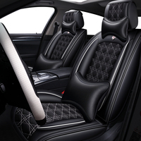 (Front+Rear) Leather&Flax car seat cover For Bmw x1 e84 x3 e83 f25 x4 f26 x4m x5 e53 e70 f15 x6 e71 f16 of 2018 2017 2016 2015