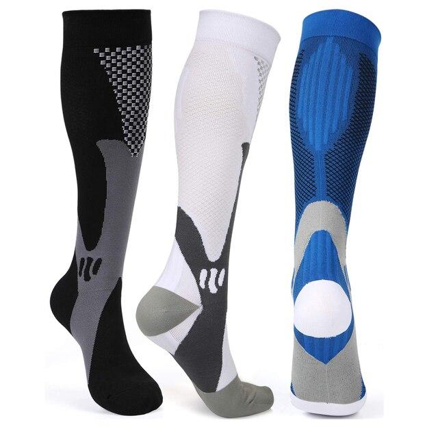 Brothock meias de compressão, meias de náilon para enfermagem, uso médico, profissional, ciclismo, secagem rápida, para adultos, esportes 1