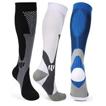Brothock meias de compressão de náilon meias de enfermagem médica especializada ciclismo ao ar livre de secagem rápida respirável adulto meias esportivas