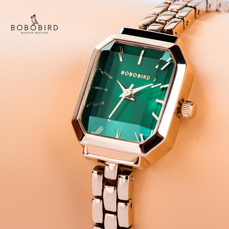 BOBOBIRD Women Watches Waterproof Steel Strap Ladies WristWatches Bracelet Clock For Valentine's Day Gift Relogio Feminino