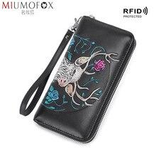 Wristlet Wallet Passport Purse High Quality Leather Wallet Female Long Zipper Women Wallets Elegant Clutch Bag Ladies Wallets