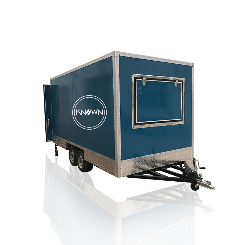 CE Approved Square Shape Fast Snack Hot Dog Food Trailer Mini Food Trailer Mobile Chicken Truck For Sale