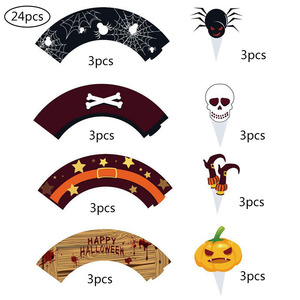 Image 5 - Halloween Muffins Cupcake Paper Cups Cake Decorating Tools Cupcake Liner&Cake Topper Baking Tools Cake Wrappers Paper Cup