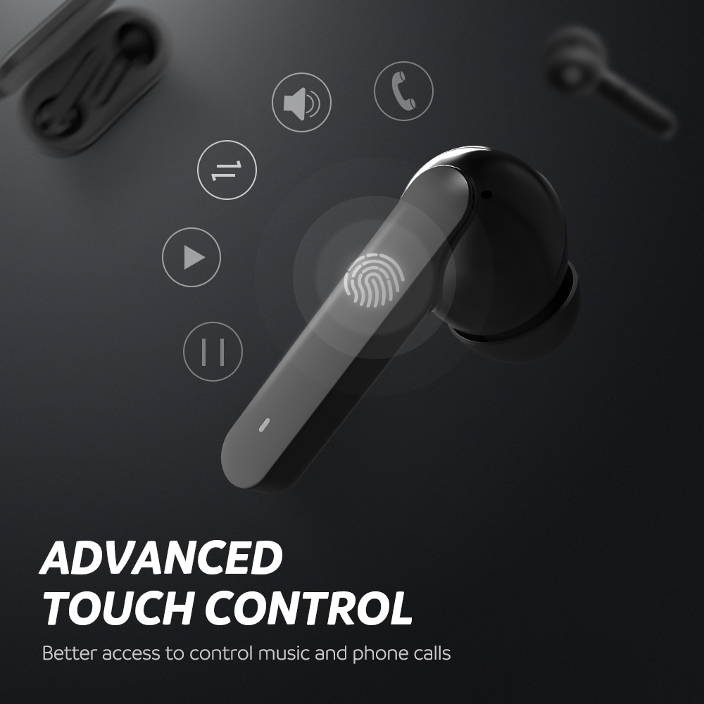 Image 3 - SoundPEATS True Wireless Earbuds 5.0 Bluetooth Earphones in Ear Stereo Wireless Earphones with Mic Touch Control Headset-in Bluetooth Earphones & Headphones from Consumer Electronics