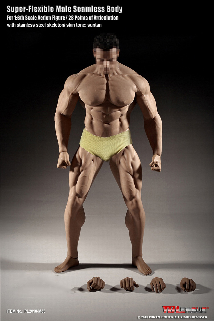 NEW Phicen M35 1//6 Dwayne Johnson Male Seamless Super Muscular Body in stock