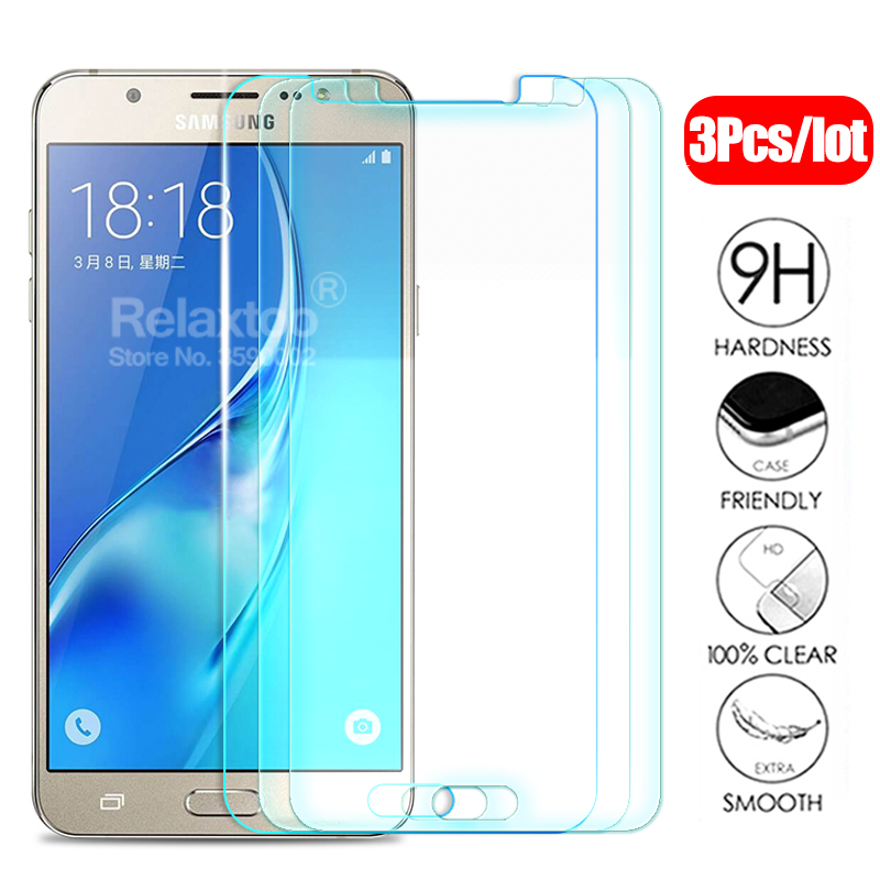 3pcs/lot Protective <font><b>Glass</b></font> For <font><b>samsung</b></font> J3 <font><b>J5</b></font> J7 A3 A5 A7 2015 2016 2017 2018 tempered Glas on the a j 3 5 7 screen protector Film image