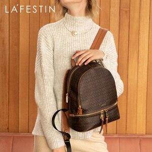 Image 1 - LAFESTIN marque femmes sac 2019 nouveau populaire femme sac à dos mode voyage décontracté grande capacité sac à dos