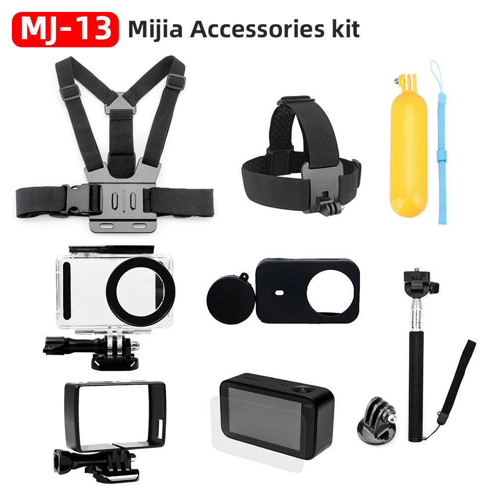 For Xiaomi Mijia 4K Accessories Kit Self Stick Waterproof Housing Case Box Frame Shell Cover Cap Protector Case Cover Lens Mijia image