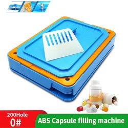 0 #200 отверстие лекарственный порошок машина для ручного наполнения капсул пищевой инструмент ABS диспенсер пластины капсулы машина быстрого...