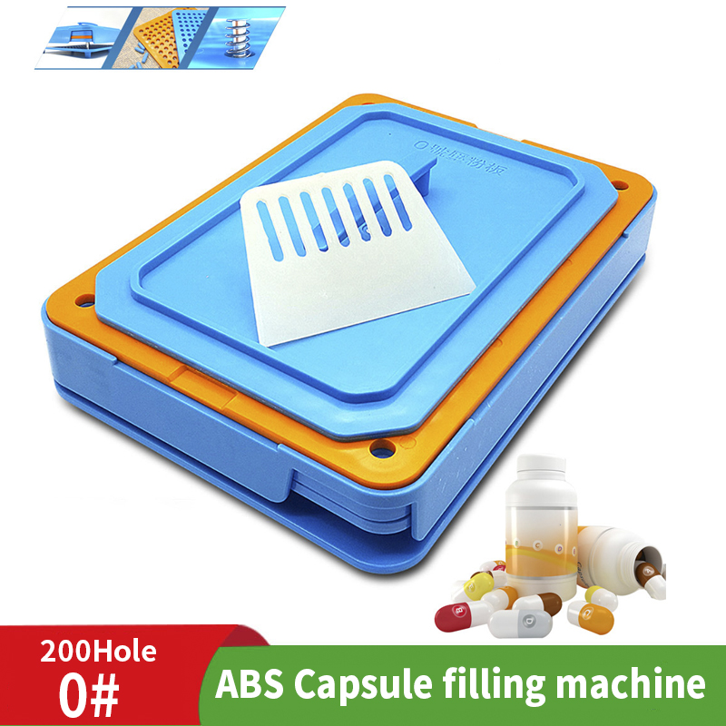 0 # 200 Hole Medicinal Powder Manual Capsule Filling Machine Food Grade Tool ABS Plate Dispenser Capsule Fast Filling Machine|Food Filling Machines| |  - title=