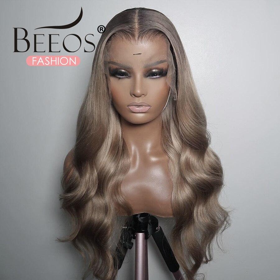 Mel loira parte do laço peruca colorida 13x6 frente do laço perucas de cabelo humano com cabelo do bebê onda do corpo para as mulheres pré arrancadas remy brasileiro