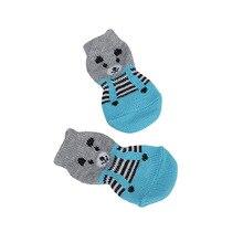 Новинка 4 шт. носки для щенков Нескользящие вязаные дышащие эластичные теплые зимние домашние носки VA88