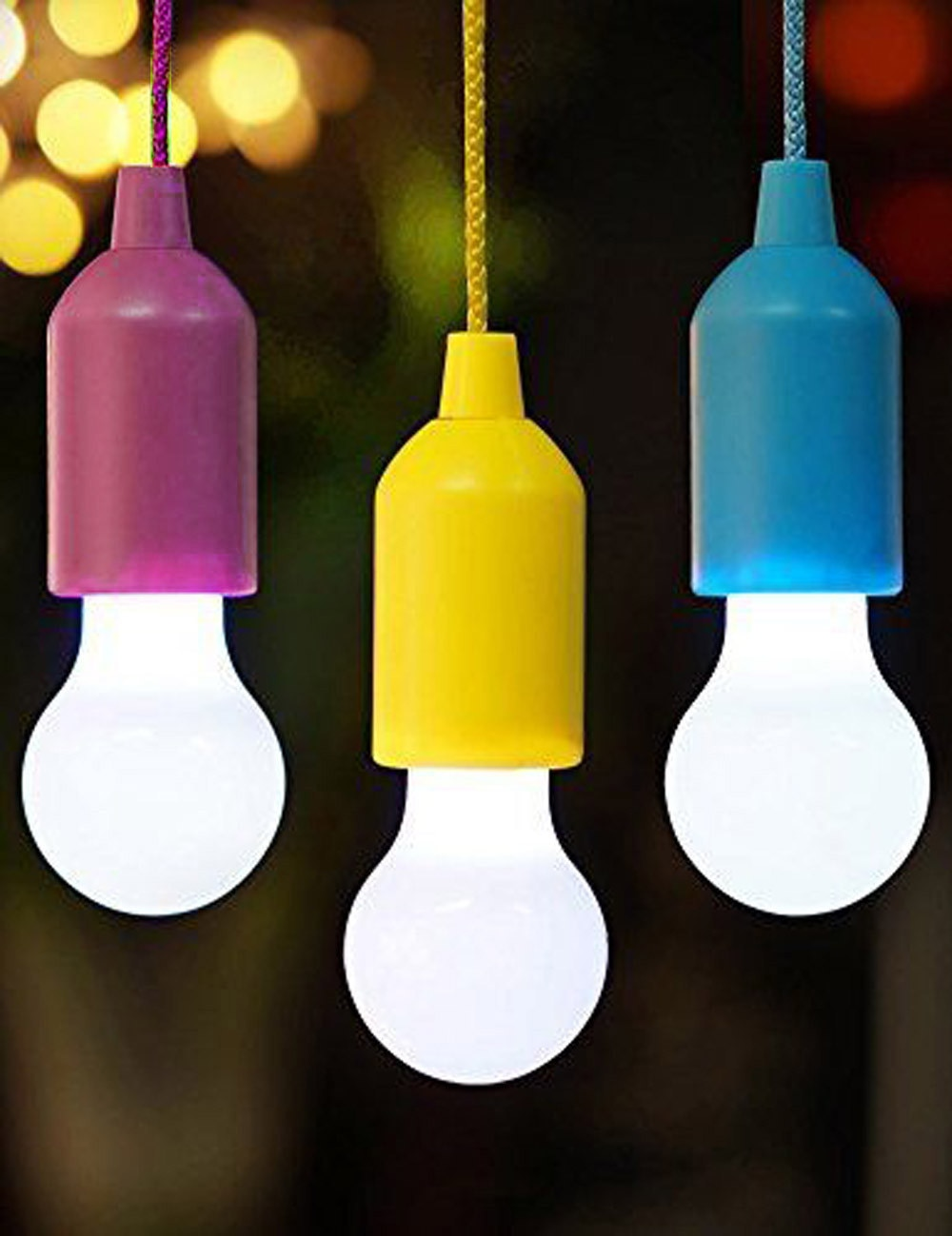 Portable Outdoor Hanging Tent Camping Light Night Lights Powered By 3*AAA Batterynight Light LED Bulb Lamp Lanterns