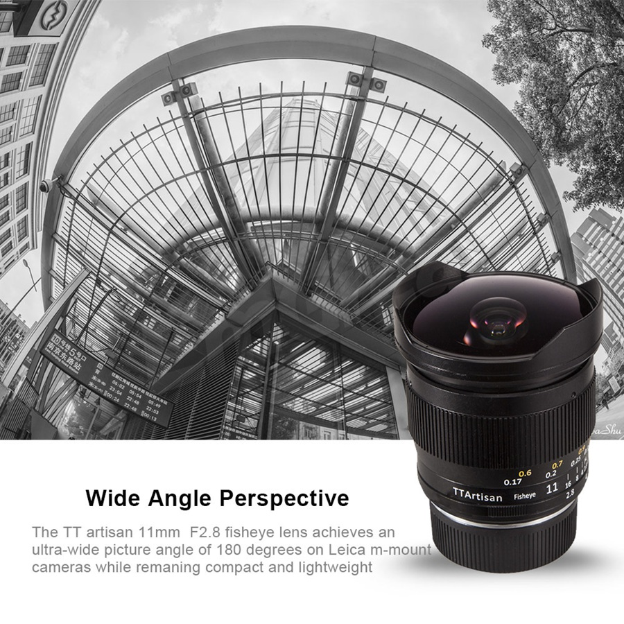 Image 3 - TTArtisan Full Fame 11mm F2.8 Ultra Wide Fisheye Manual Lens E mount for Sony A7 A7II A7R A7RII A7S A7SII A6000 A6300 A6500Camera Lens   -