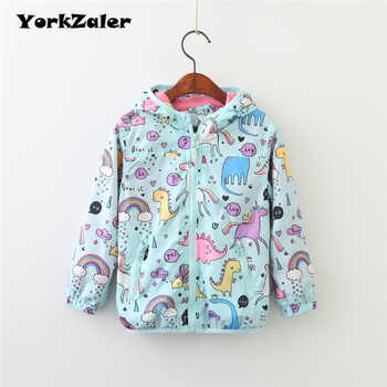 YorkZaler Kids Rain Jacket Baby Girl Boy Clothing Spring Children Long Sleeve Print Unicorn Dinosaur Hooded Coat Outerwear Tops - DISCOUNT ITEM  20% OFF All Category