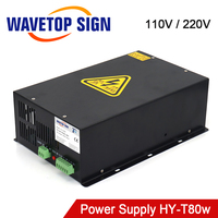 WaveTopSign 80W CO2 Laser Power Supply Source for CO2 Laser Engraving and Cutting Machine HY T80 Series Long Warranty