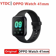 Oryginalny zegarek OPPO 41mm eSIM koperta ze stopu aluminium 1.6 calowy ekran AMOLED Snapdragon2500 1GB 8GB NFC inteligentny zegarek ColorOS