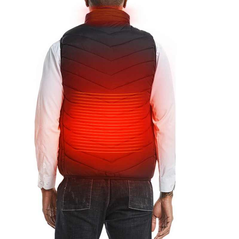 Männer Im Freien USB Heizung Elektrische Winter Weste Ärmellose Wace Cut Beheizte Jacke Kalt-Proof Kleidung Sicherheit Intelligente Westen