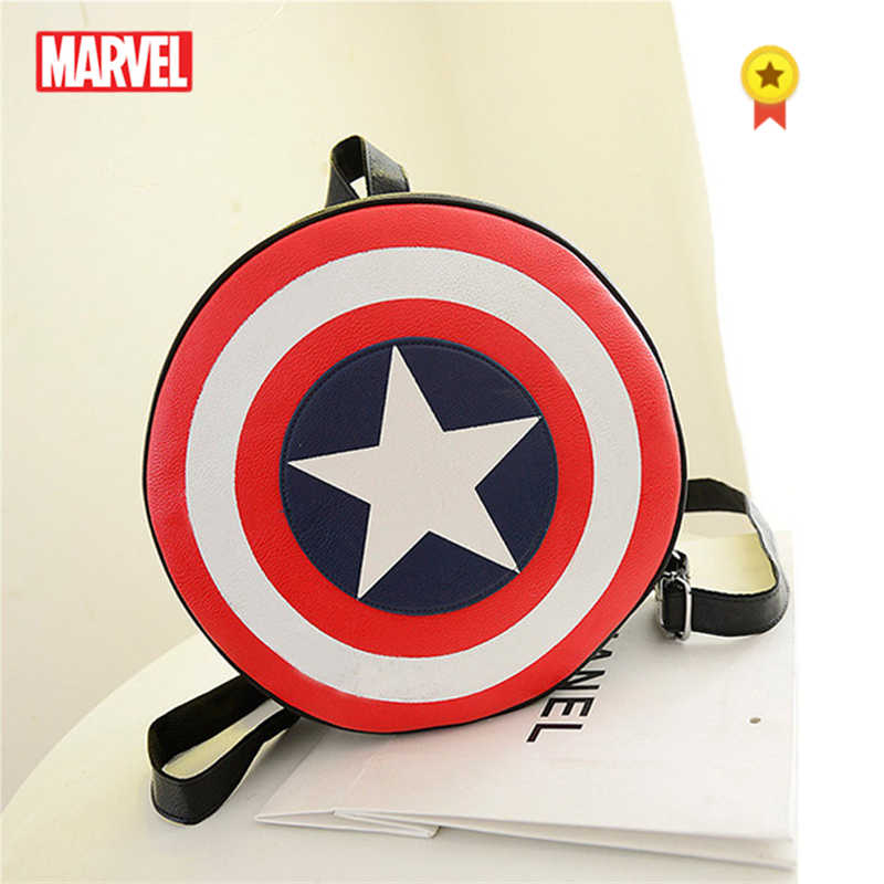 Marvel  Primary Cchool Ctudent Cchoolbag Marvel Children Shield Boy Girl Backpack Fashion Shoulder Bag Large Capacity Party Bag