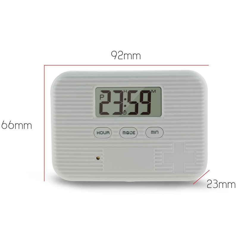 Dust Proof 6 Grid Pill with Electronic Timer and Alarm Reminder for Keeping the Medicines Safely 3