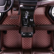 Custom Car Floor Mats for Peugeot207 2008 2009 2010 2011 2012 2013 Auto Accessories Car Mats Eco Leather for Car Interior