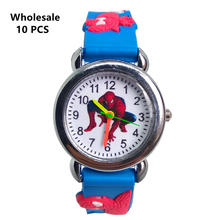 (Wholesale 10 pcs) Cool Spiderman Kids Watches Soft Silicone Spider man Band Chi