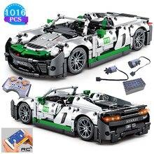 Zaawansowane technologicznie pomysły na tworzenie słynnych zdalnie sterowanym samochodowym klockom wyścigowym Model klocki edukacyjne dla dzieci zabawki dla chłopców prezenty