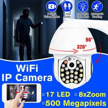 Kamera IP 1080P PTZ Wifi zewnętrzna kamera kopułkowa bezprzewodowa kamera monitoringu wi-fi Pan Tilt 4X Zoom cyfrowy sieć CCTV nadzór